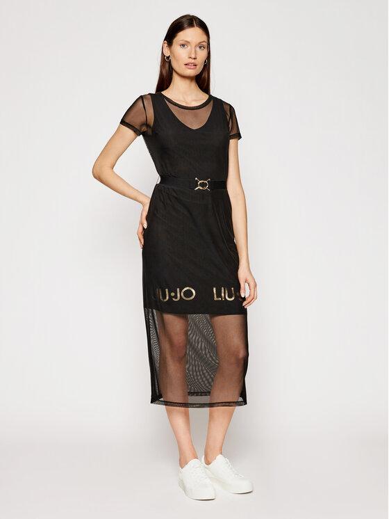 Liu Jo Sport Kasdieninė suknelė TA1139 J6187 Juoda Regular Fit