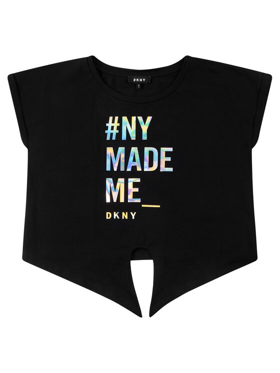 DKNY DKNY T-Shirt D35Q49 M Czarny Regular Fit