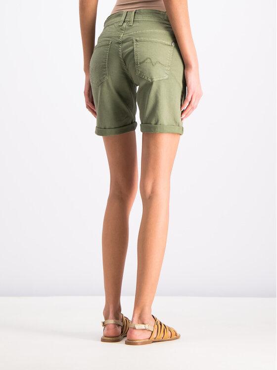 Pepe Jeans Pepe Jeans Pantaloncini di jeans PL800802YC8 Verde Regular Fit