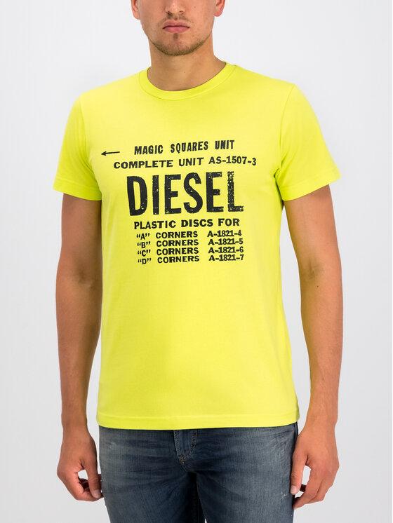 Diesel Diesel Marškinėliai T-Diego-B6 00SXE6 0091A Geltona Regular Fit