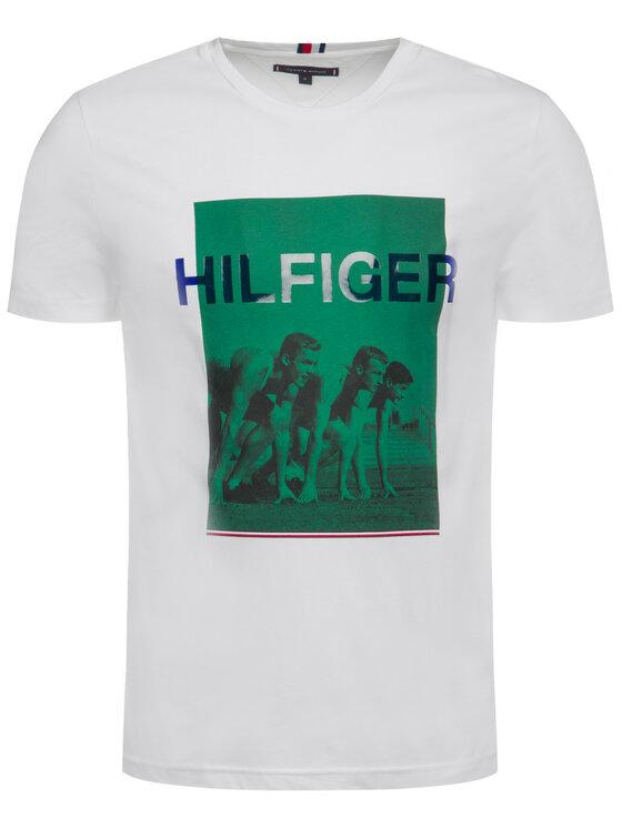 Tommy Hilfiger Tommy Hilfiger T-Shirt Rowers Photo Print MW0MW11822 Weiß Regular Fit