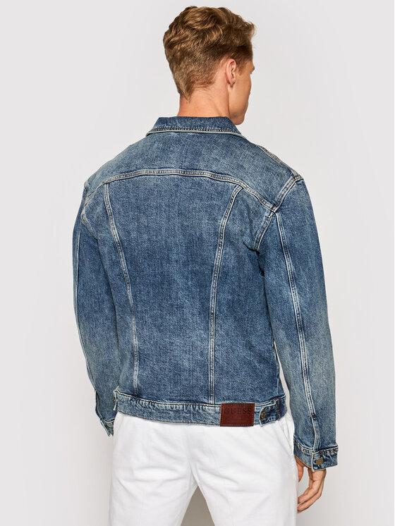 Guess Guess Kurtka jeansowa M1YN37 D47IF Niebieski Regular Fit
