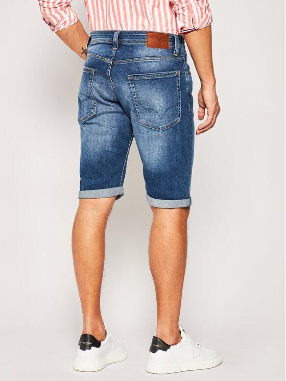Pepe Jeans Pepe Jeans Džinsiniai šortai Cash PM800074 Tamsiai mėlyna Regular Fit