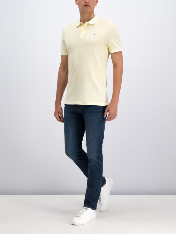 Calvin Klein Jeans Calvin Klein Jeans Polo J30J313566 Żółty Slim Fit