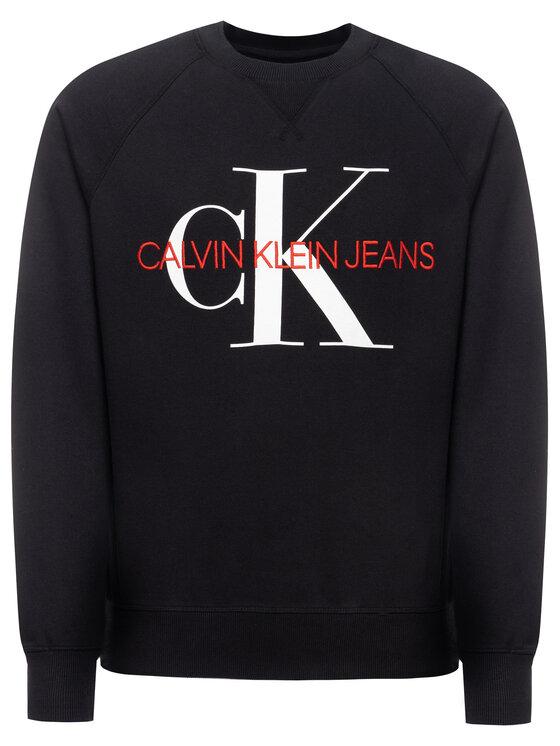 Calvin Klein Jeans Calvin Klein Jeans Bluza Monogram J30J313222 Czarny Regular Fit