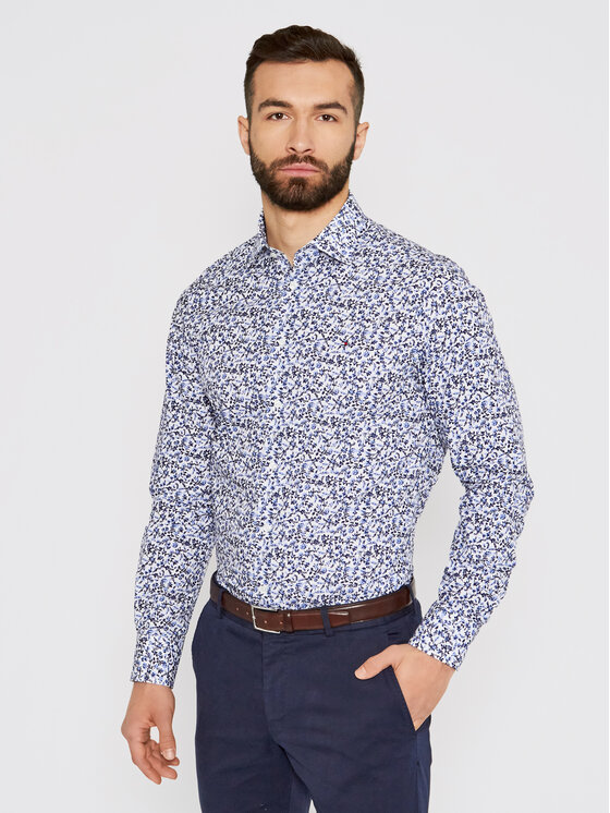 Tommy Hilfiger Tailored Marškiniai Floral Print MW0MW16465 Spalvota Regular Fit