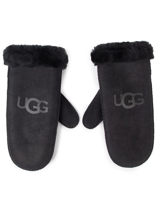 Ugg Ugg Rękawiczki Damskie W Sheepskin Logo Mitten 18690 Czarny