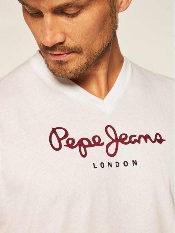 Pepe Jeans Pepe Jeans T-Shirt Eggo PM501389 Λευκό Regular Fit