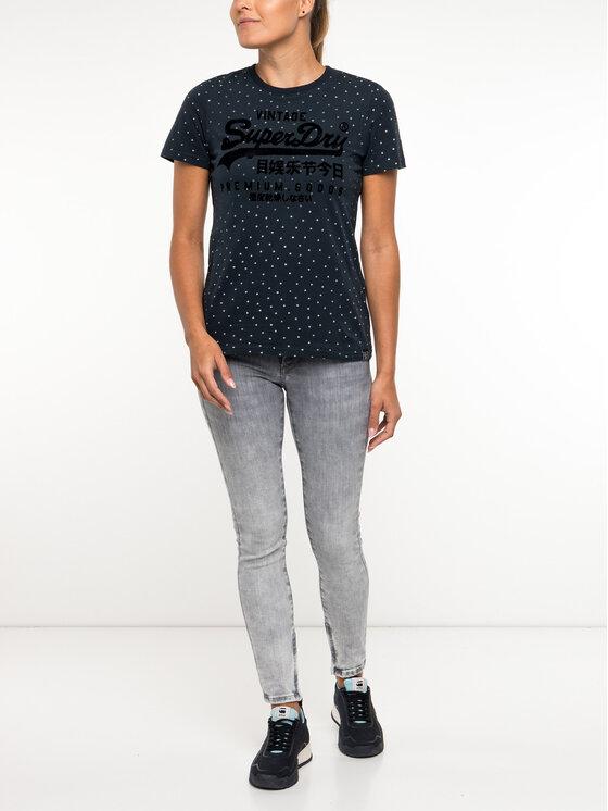 Superdry Superdry T-shirt W1000016B Blu scuro Regular Fit