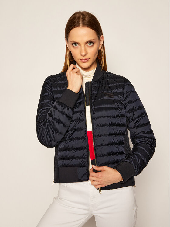 TOMMY HILFIGER TOMMY HILFIGER Geacă bomber ICONS Stacey WW0WW28397 Bleumarin Regular Fit