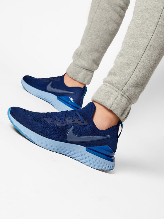 Nike Nike Topánky Epic React Flykint 2 BQ8928 400 Tmavomodrá