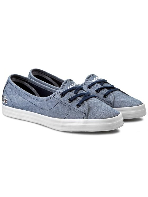 Lacoste Lacoste Πάνινα παπούτσια Ziane Chunky Lin Spw 7-29SPW2204DB4 Μπλε