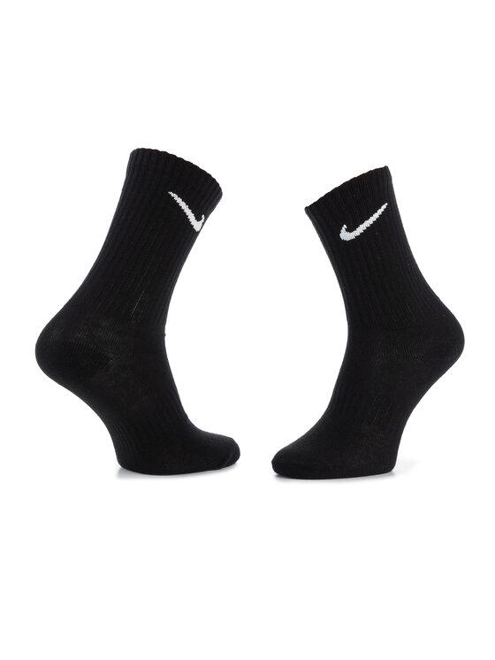 Nike Nike Σετ 3 ζευγάρια ψηλές κάλτσες unisex SX7676 010 Μαύρο