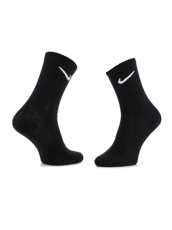 Nike Nike Zestaw 3 par wysokich skarpet unisex SX7676 010 Czarny