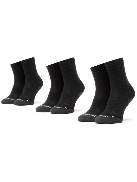 Nike Nike Zestaw 3 par wysokich skarpet unisex SX5547-010 Czarny