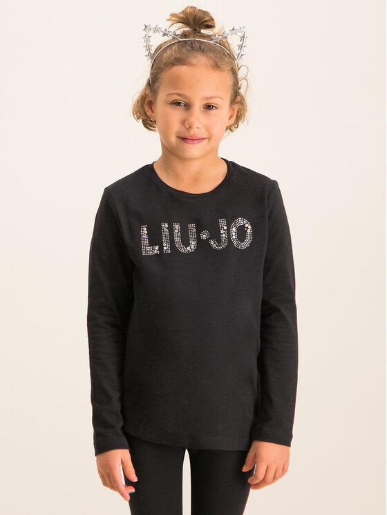Liu Jo Kids Liu Jo Kids Blúzka G69010 J0088 Čierna Regular Fit