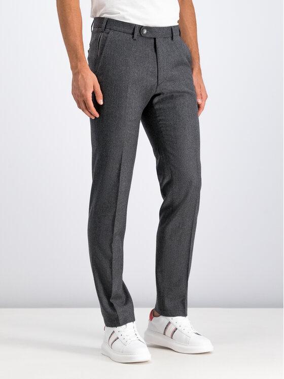 Digel Digel Текстилни панталони 1291209 Сив Regular Fit