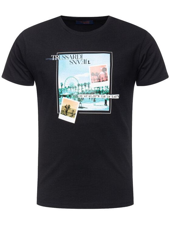 Trussardi Trussardi Tričko Cotton Jersey 52T00231 Čierna Regular Fit