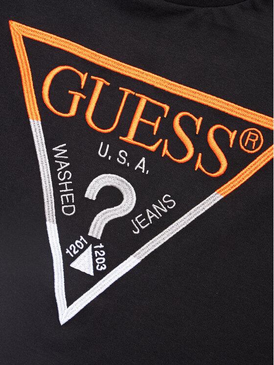 Guess Guess T-Shirt H1RJ05 K8HM0 Czarny Regular Fit