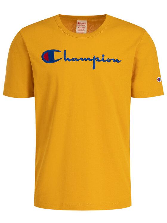 Champion Champion Marškinėliai 210972 Geltona Regular Fit