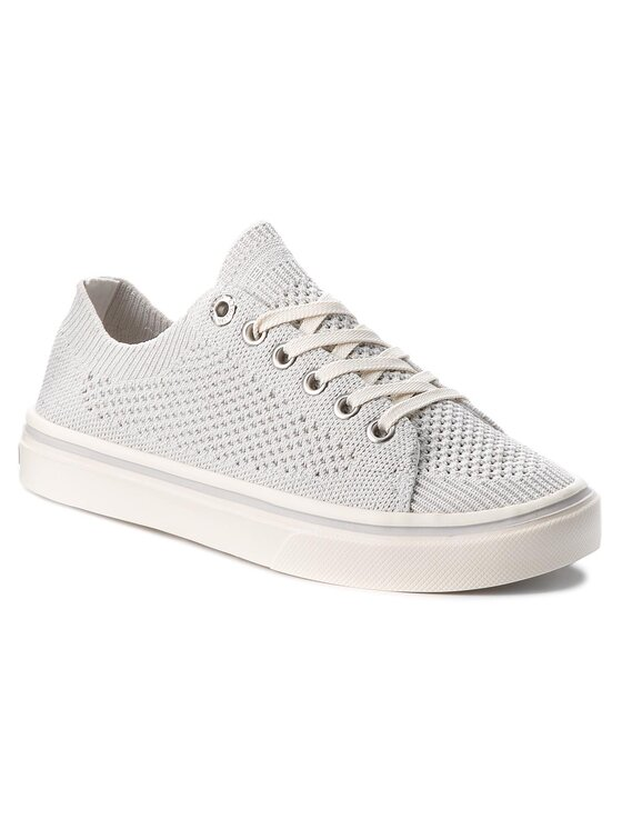 Tommy Hilfiger Tommy Hilfiger Πάνινα παπούτσια Knitted Light Weight Lace Up FW0FW03362 Λευκό