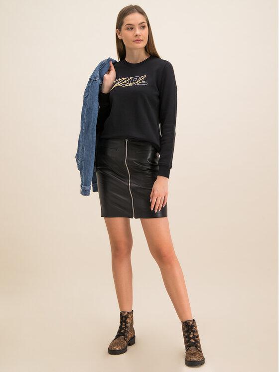 KARL LAGERFELD KARL LAGERFELD Sweter Double Logo 96KW1814 Czarny Regular Fit
