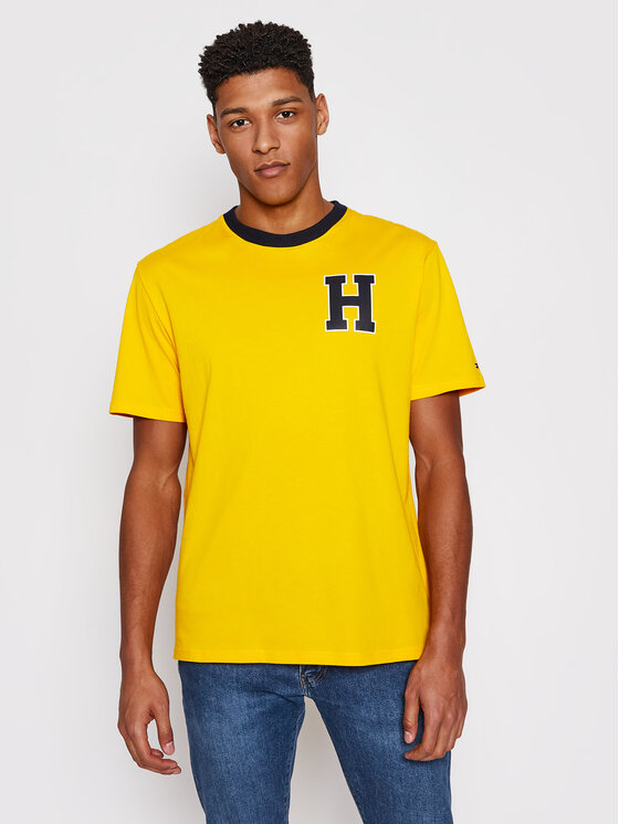 Tommy Hilfiger T-Shirt Cm Ss Tee UM0UM02129 Żółty Regular Fit