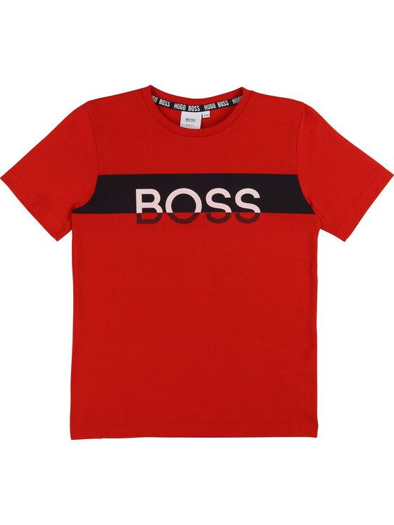 Boss Boss T-Shirt J25E39 M Czerwony Slim Fit