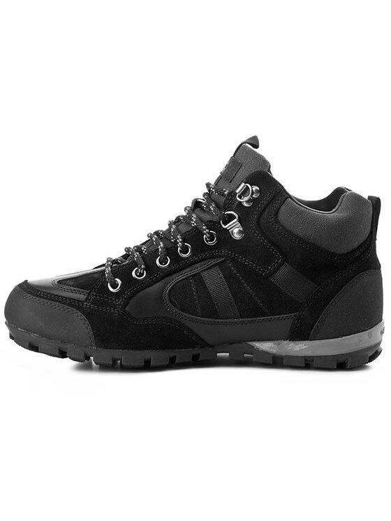Geox Geox Trekingová obuv U Roccia B Abx A U44C9A 02343 C9999 Čierna