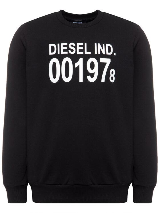Diesel Diesel Bluza S-Girk-J3 00SDPY 0IAJH Czarny Regular Fit