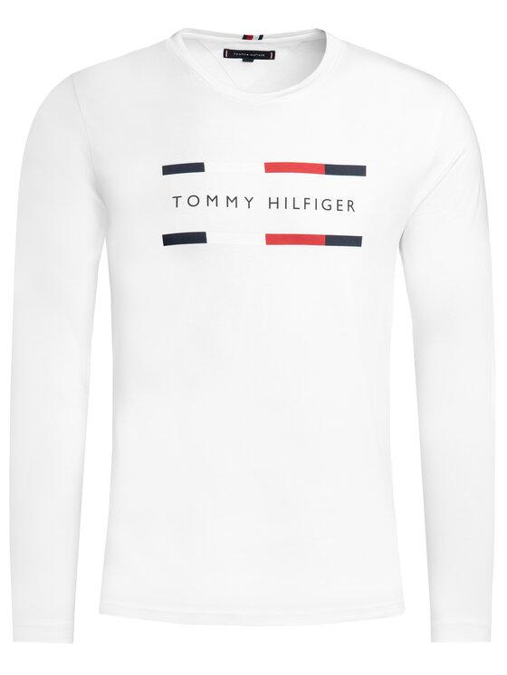 TOMMY HILFIGER TOMMY HILFIGER Marškinėliai ilgomis rankovėmis Corp MW0MW11807 Balta Regular Fit