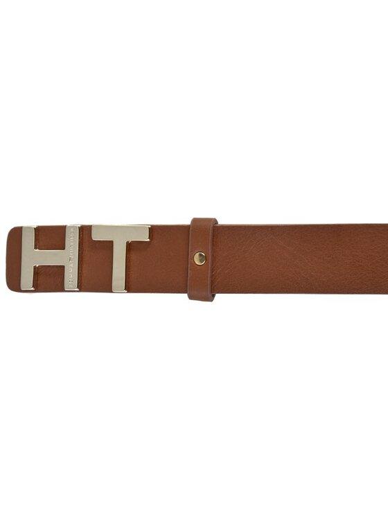 Tommy Hilfiger Tommy Hilfiger Dámsky opasok The Belt 3,0 AW0AW01611 75 Hnedá