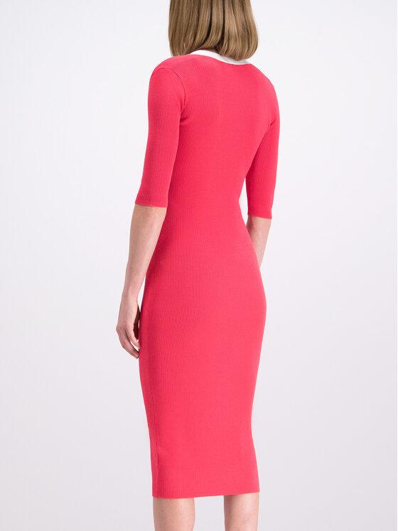 Elisabetta Franchi Elisabetta Franchi Úpletové šaty AM-34B-92E2-V190 Růžová Slim Fit