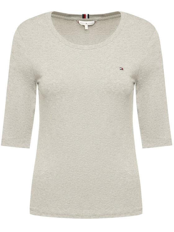 Tommy Hilfiger Tommy Hilfiger T-shirt Sld Round WW0WW26729 Gris Slim Fit