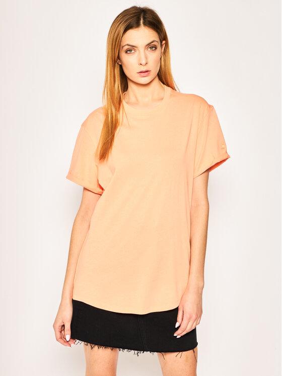 G-Star Raw G-Star Raw T-Shirt Lash Fem Wmn D16902-4107-B454 Πορτοκαλί Loose Fit