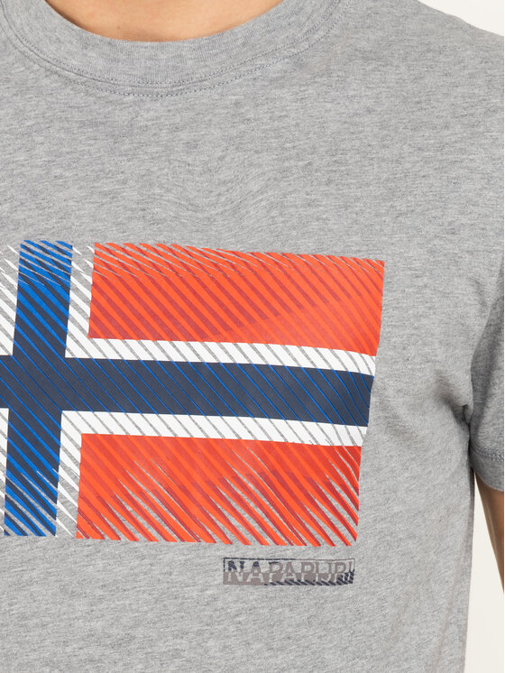 Napapijri Napapijri T-Shirt Sibu N0YIX2 Szary Regular Fit