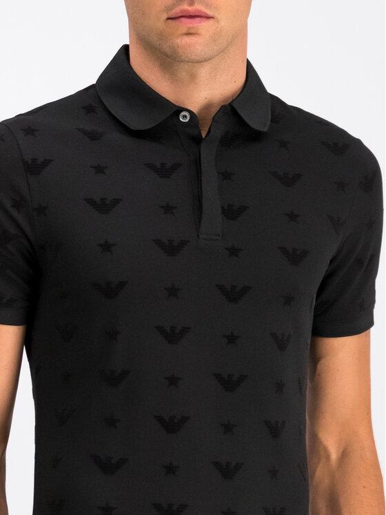 Emporio Armani Emporio Armani Polo marškinėliai 6G1F81 1JPTZ 0999 Juoda Slim Fit
