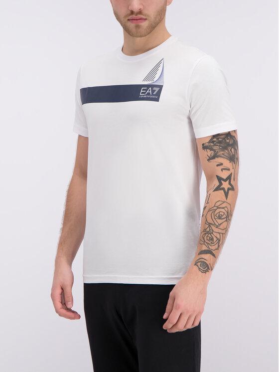EA7 Emporio Armani EA7 Emporio Armani T-shirt 3GPT60 PJ02Z 1100 Bianco Regular Fit