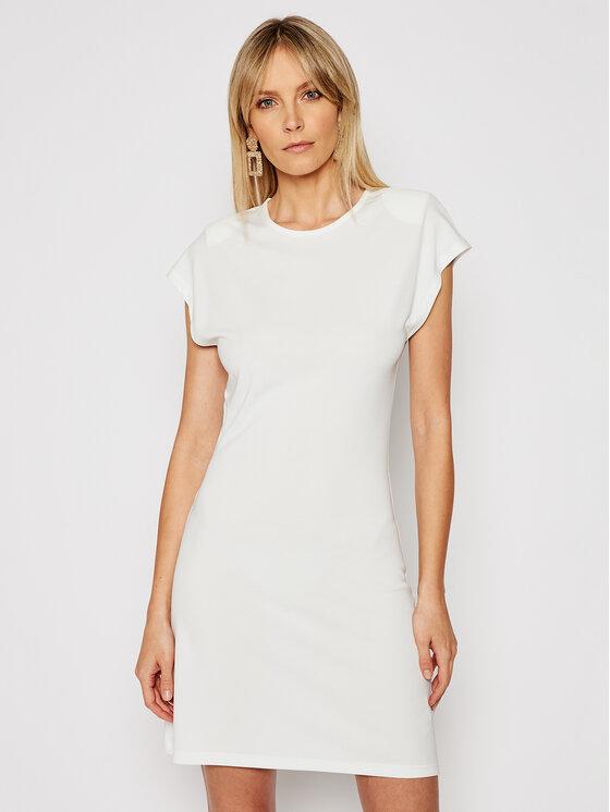 Silvian Heach Sukienka codzienna Gengrass PGP21261VE Biały Slim Fit