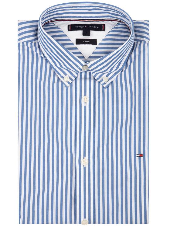 TOMMY HILFIGER TOMMY HILFIGER Hemd Hyper Classic Stripe MW0MW12209 Bunt Slim Fit