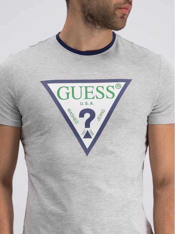 Guess Guess T-Shirt M92I24 J1300 Šedá Super Slim Fit
