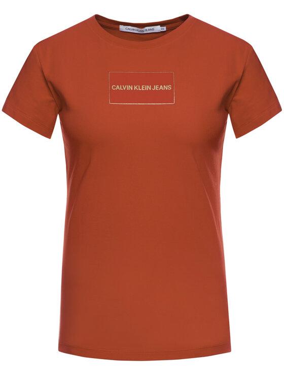 Calvin Klein Jeans Calvin Klein Jeans T-shirt Institutional J20J212235 Rosso Slim Fit