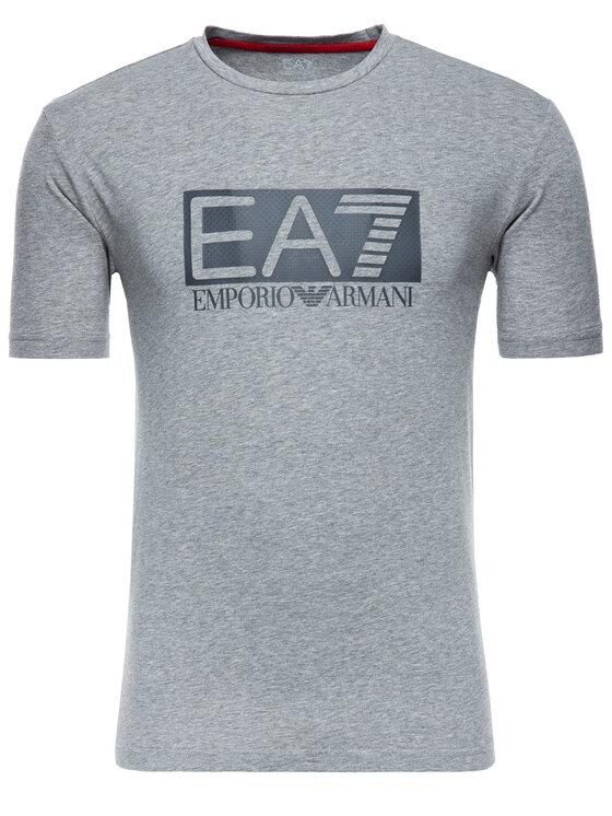EA7 Emporio Armani EA7 Emporio Armani Tričko 3GPT62 PJ03Z 3905 Sivá Regular Fit