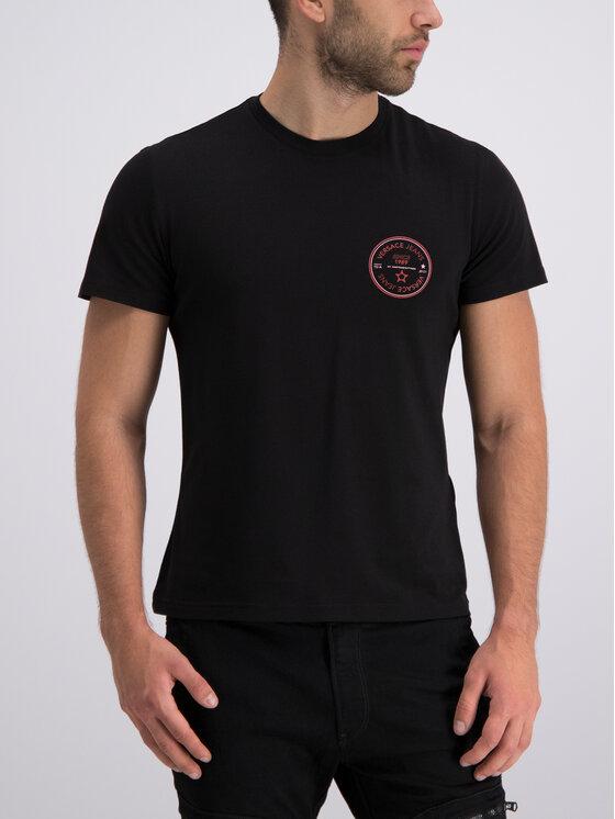 Versace Jeans Versace Jeans T-Shirt B3GTB76S Μαύρο Slim Fit