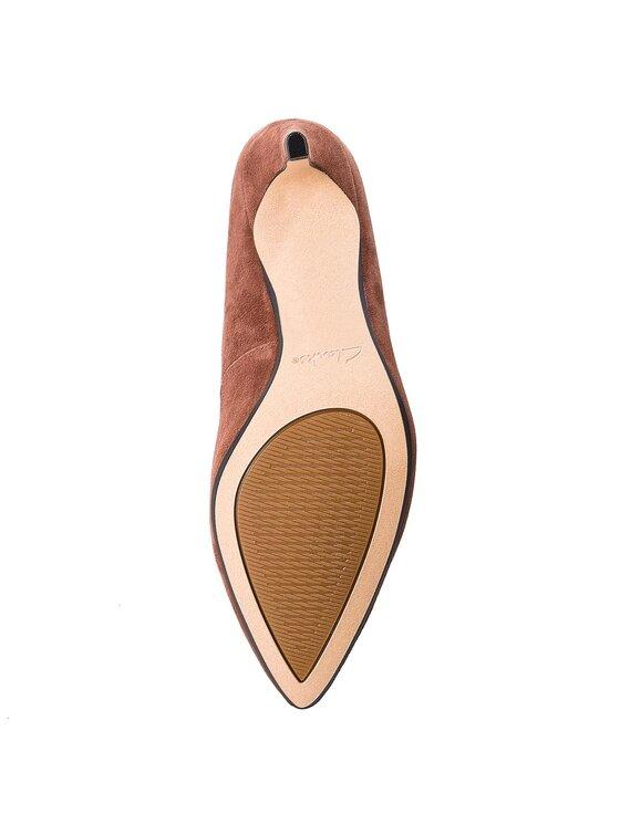 Clarks Clarks Обувки на ток Laina Rae 261377994 Кафяв