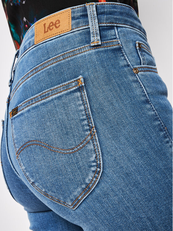 Lee Lee Super Skinny Fit Jeans Jodee L529MOHU Dunkelblau Super Skinny Fit