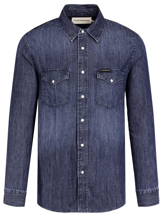 Calvin Klein Jeans Calvin Klein Jeans Koszula Western J30J314392 Granatowy Regular Fit