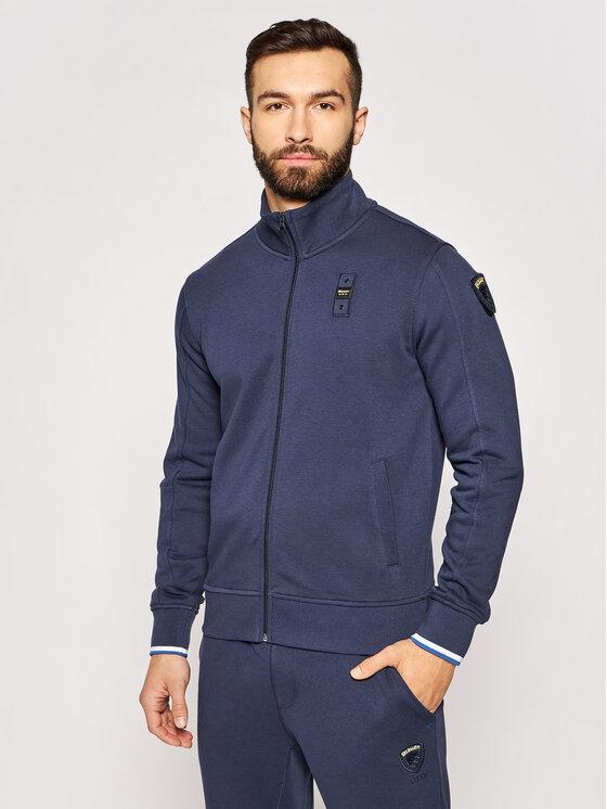 Blauer Džemperis 21SBLUF01119 005662 Tamsiai mėlyna Regular Fit