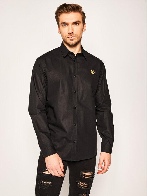 MCQ Alexander McQueen Marškiniai 499300 ROP19 1000 Juoda Regular Fit