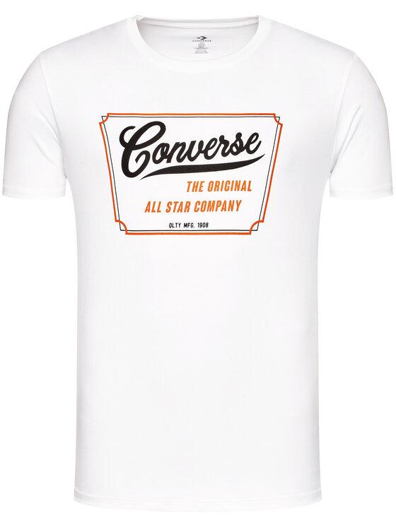 Converse Converse T-Shirt 10018853-A02 Λευκό Regular Fit
